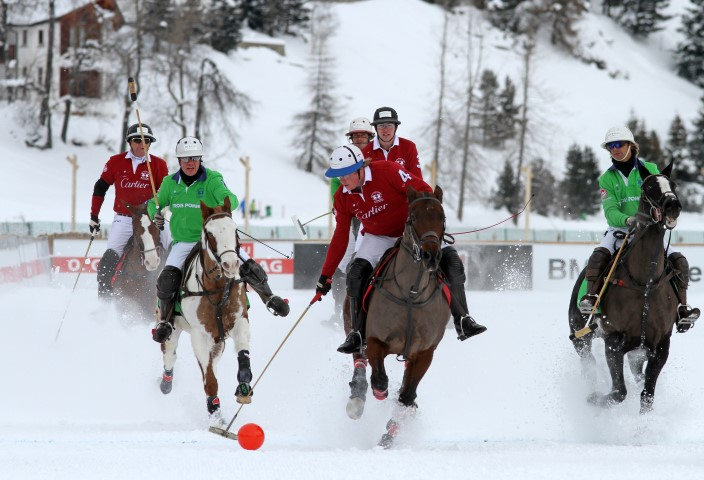 2015 Preparations Underway St Moritz Snow Polo World Cup